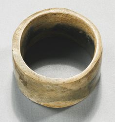 A jade bracelet, Neolithic Period, Liangzhu Culture. Photo Sotheby's.