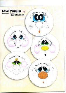 Cute Snowman Faces to Paint Snowman Faces, Cute Snowman, Snowman Crafts, Christmas Crafts, Christmas Ornaments, Snowmen, Tole Painting, Painting & Drawing, Painted Rocks