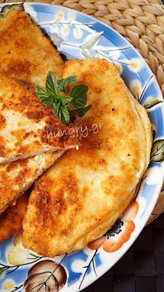 Τηγανόψωμα Greek Cheese Pie, Cheese Pies, Greek Beauty, Greek Cooking, Fries, Ethnic Recipes, Geo, Happy, Recipes
