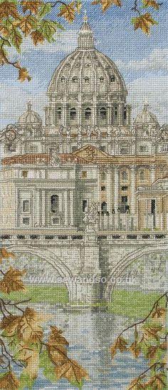 St Peter's Basilica http://www.sewandso.co.uk/Products/St-Peters-Basilica-Cross-Stitch-Kit__ANC-PCE0815.aspx