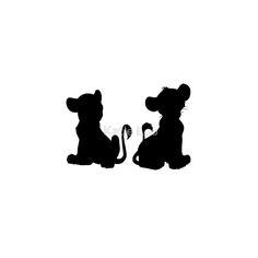 """Simba and Nala"" Throw Pillows by Katie Lou | Redbubble"