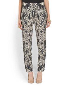 Silk print pants. Such a fun look!