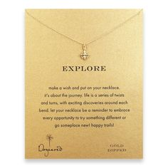 explore compass necklace, gold dipped - Dogeared