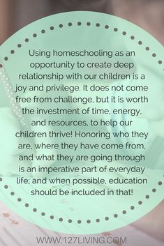 Homeschooling can help children who have experienced trauma and loss with attachment and bonding. Click through to find out how!.