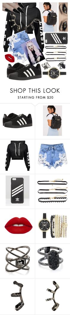 """Untitled #248"" by sodenoshirayuki-kuran ❤ liked on Polyvore featuring adidas, Lime Crime, Jessica Carlyle, Eva Fehren, Kendra Scott and Repossi"