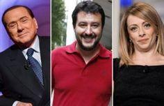 gli scambisti il listone di #berlusconi  con #meloni e #salvini