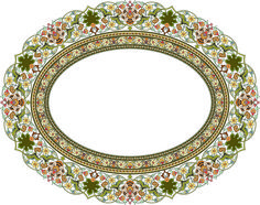 48-Floral Pattern (Khatai) Islamic Art Pattern, Arabic Pattern, Persian Pattern, Pattern Art, Greek Pattern, Boarders And Frames, Ornament Template, Islamic Art Calligraphy, Frame Clipart