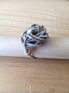Guitar String Ring by erinepearson on Etsy, $40.00