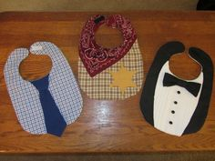 Little Man Bibs! - DIY (No instructional)