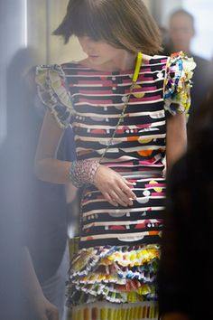 CHANEL SS14 Ready-To-Wear at fitting