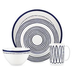 Named after London's historic district Charlotte Street, this dinnerware collection from kate spade new york celebrates simple and classic style for timeless appeal. Crafted from Lenox® porcelain.
