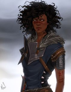 This is my Marian Hawke. She's so gorgeous and I love the hair! Also she is a mage who romanced Fenris. I commissioned this from the amazing @cocotingo!  Well, I'm going to go stare at this for a while now.