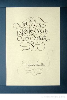 Calligraphical gift. by Marina Marjina, via Flickr