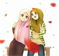 Hijab Drawing Manga Muslimah Anime Islam Women