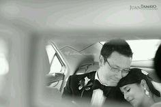 Auto novia y papá