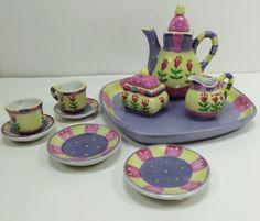 Bella Casa Ganz Children's Toy Mini Tea Set Ceramic - Cute gift!