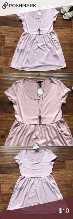 🆕🆕Forever 21 Pink Dress 💕💕 NWT Forever 21 Pink Dress w/ POCKETS!! Forever 21 Dresses Mini