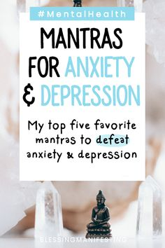 5 Mantras for Anxiety and Depression - Blessing Manifesting Depression Self Help, Depression Support, Fighting Depression, Dealing With Depression, Anxiety And Depression, Overcoming Depression, Overcoming Anxiety, Mantras For Anxiety