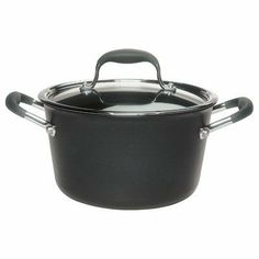 Anolon Advanced 4.5 Quart Tapered Saucepot Nonstick Cookware by Anolon. $49.95. Saucepans. 82032 Features: -Hard-anodized aluminum provides for a nonstick surface for easy cleanup.-Glass lids allow you to view food as it cooks.-Restaurant tested by professional chefs.-DuPont's Autograph 2 surpasses all other standard nonstick formulas.-SureGrip Handles, a combination of durable stainless steel and silicone rubber are durable and ergonomic.-Break-resistant.-Mater...