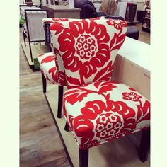 Great fabric covered dining chairs #homegoods #homegoodsobsessed #uws #nyc