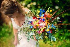 Colourful wedding bouquet - bright wedding bouquet - colourful wedding flowers - Fun & Colourful Nature Reserve Wedding: Emma & Grant