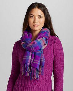 Women's Warm Yarn-Dyed Scarf