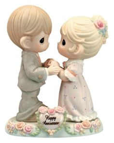 Our love was meant to be. Happy Anniversary Romantic Couple Figurine