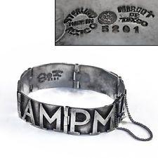 MARGOT de TAXCO MEXICAN...sterling silver...AM/PM...bracelet