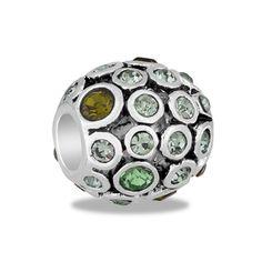 DaVinci Beads CZ Ball Green Jewelry
