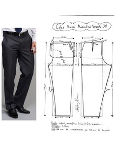 how to make thai fisherman pants pattern Mens Sewing Patterns, Sewing Men, Sewing Pants, Sewing Clothes, Clothing Patterns, Diy Clothes, Pattern Sewing, Mens Shirt Pattern, Jacket Pattern