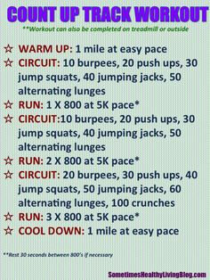 Track Workout Idea. I really want to work up to this.