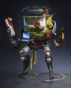 Cyber_plant, Konstantin Maystrenko on ArtStation at https://www.artstation.com/artwork/nRdK
