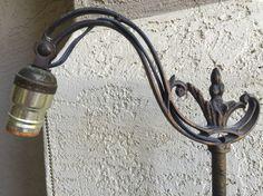 Vintage Cast Iron Art Deco Bridge Floor Lamp Wedding Decor | Iron ...