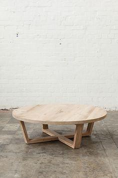 Mark Tuckey - Coffee Table - angled cross base. oregon sandblasted