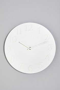 white clock $19 Urban Outfitters. Target has one for 6 bux