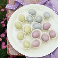 Marzipan and Chocolate-Almond Eggs  (I need luster dust?!...don't we all!!)