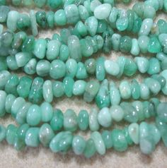 """Semi-Precious Green Emerald 2-4mm Chip Nugget Beads 16"""" Untreated Natural Color"""