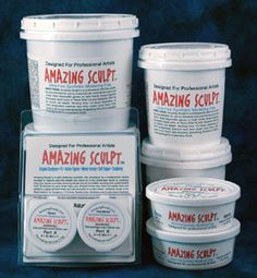 AMAZING SCULPT - WHITE 1 lb Superior Self Hardening Sculpting and Modeling Clay. Works better than Apoxie Sculpt. Cost less at only $12.95