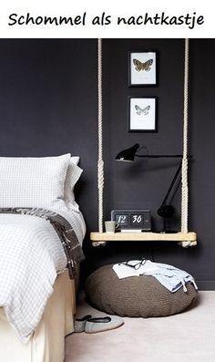 DIY interieurstyling: Schommel als nachtkastje