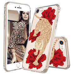iPhone 7 Case, iPhone 8 Clear Case, MOSNOVO Fashion Tiger Pattern Clear Design Transparent Plastic Hard Back with TPU Bumper Protective Case Cover for Apple iPhone 7 inch) Cool Iphone 7 Cases, Girl Phone Cases, Iphone Cases For Girls, Iphone 8 Plus, Coque Iphone, Samsung Galaxy, 6s Plus, Apple Iphone, Display