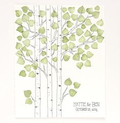 simple aspen tree drawing