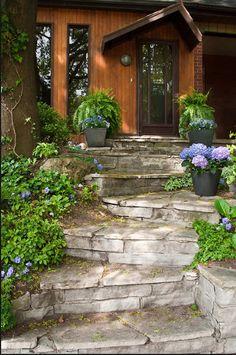 front yard steps - Google Search | Landscape | Pinterest | Front ...