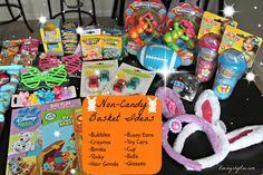 Non-Candy Easter Basket filler ideas