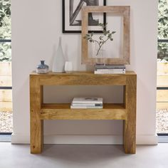 An innovative, chunky frame design that highlights fragile and dainty decor - the simplicity of our Mantis Light console table works well with lots of settings. Tap the link to shop. Oak Furniture Land, Hardwood Furniture, Diy Furniture, Slim Console Table, Hallway Inspiration, Home Decor Trends, Decor Ideas, Interior Styling, Home Furnishings