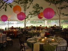 Beautiful in the tent! #Wedding #Decor