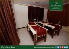 "Have a little ""me"" time at our spa boutique. Visit www.goldenpalmshotel.com for more details. #SpaSaturdays"
