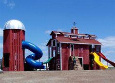 Custom Barn Playground. #Kids #Playgrounds #Education #Fitness