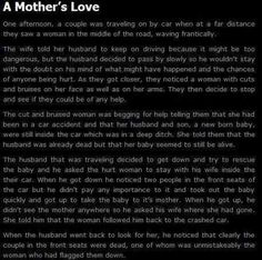 Awwwwwwwww a mothers true love - This is actually more bitter sweet than scary. show that I use to watch about paranormal stuff and there was an episode about something similar to this. Short Creepy Stories, Short Horror Stories, Spooky Stories, Weird Stories, Ghost Stories, Creepy Pasta Stories, Interesting Stories, Sweet Stories, Interesting Facts