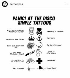 For everything Panic At The Disco check out Iomoio Panic! At The Disco, Music Tattoos, Body Art Tattoos, Emo Tattoos, Tatoos, Band Tattoo, I Tattoo, Emo Bands, Music Bands
