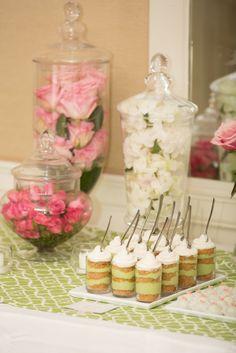 Preppy Chic Bridal Shower Dessert Table for Ali | Sweet Kiera